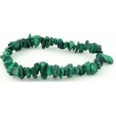 Bracelet chips malachite